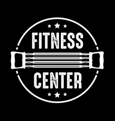 fitness badge and logo good for print design vector image