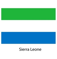 Flag of the country sierra leone vector image
