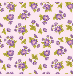 floral seamless pattern flower background texture vector image