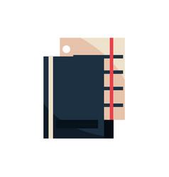 folder sheet document office work business vector image