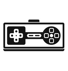 game joystick icon simple style vector image