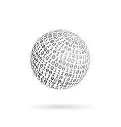 globe binary code abstract technology ball vector image