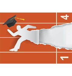 Graduate to start a career vector image
