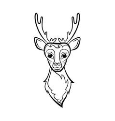 head of a deer vector image