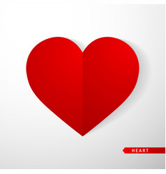 heart flat icon love symbol isolated on white vector image