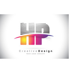 hp h p letter logo design with creative lines and vector image