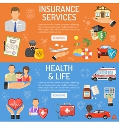 Insurance Services Banners vector