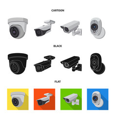 Isolated object cctv and camera icon set of vector