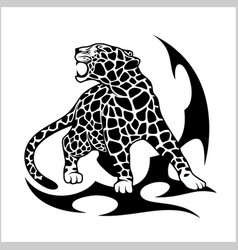 Jaguar flame tattoo vector