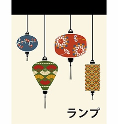 Japan lamps background vector image