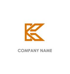 k initial company logo vector image