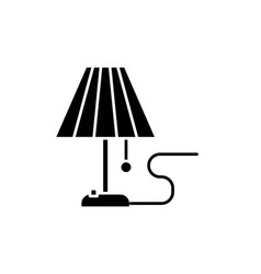 lamp black icon sign on isolated vector image