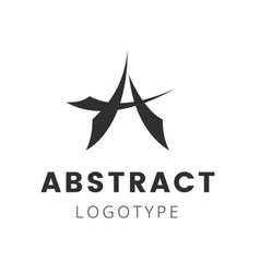 letter a logo abstract logo template vector image