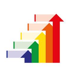levels successful business motivation concept vector image