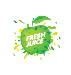 Logo for fresh juice on white vector