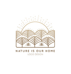 Logo nature home vector