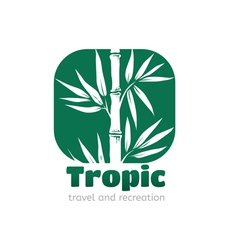 Logo tropic vector image