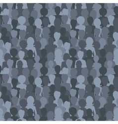 many dark silhouettes crowd people seamless vector image