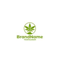 Marijuana healing logo design vector