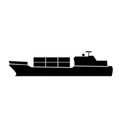 merchant ship vector image