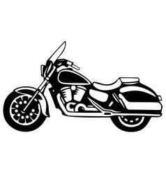 motorcycle retro bike vector image