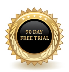 Ninety Day Free Trail vector