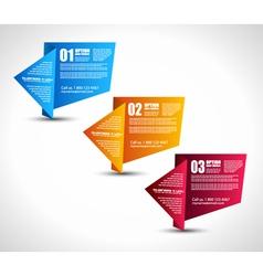 Origami Ranking tabs vector
