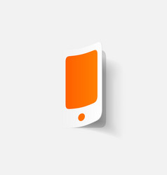 Paper clipped sticker iphone vector