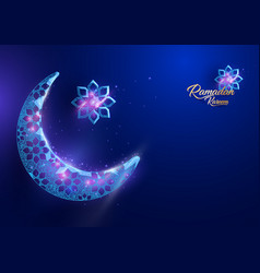 Ramadan kareem greetings card design background vector