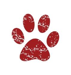 Red grunge animal logo vector image