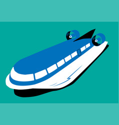 retro hydrofoil flat vector image