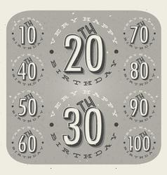 Retro Vintage style Birthday greeting card vector image