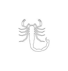 Scorpio flat icon vector