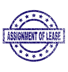 Scratched textured assignment of lease stamp seal vector