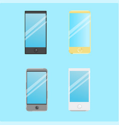 set of smart phone icons vector image