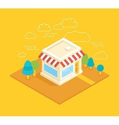 Shop building isometric vector