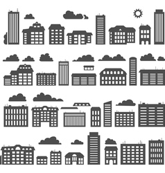 Silhouettes of buildings vector image