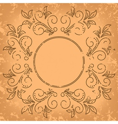 square old card - vintage background vector image
