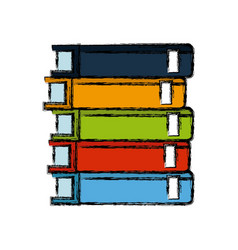 stack books library literature learning vector image