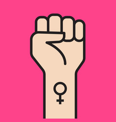 symbol feminist movement vector image