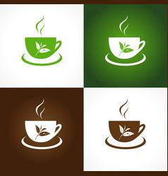 Tea company logo vector