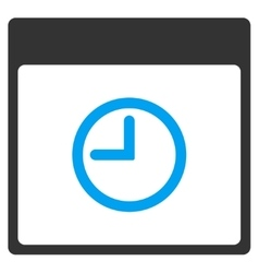 Time Calendar Page Toolbar Icon vector