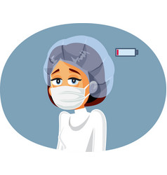 Tired exhausted medical doctor vector