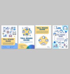 Toll roads guide brochure template vector