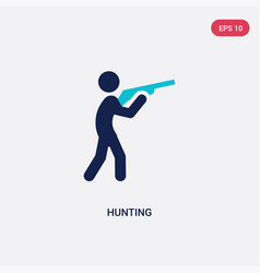 Two color hunting icon from outdoor activities vector