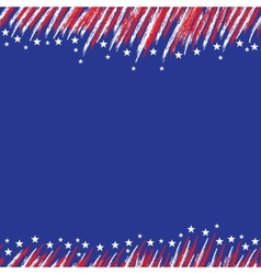 USA flag A poster with a large scratched frame vector image