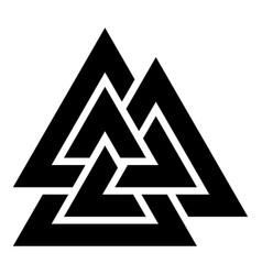 Valknut sign symblol icon black color flat style vector