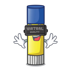 Virtual reality glue stick isolated on the mascot vector