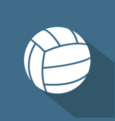 volleyball color flat icon vector image