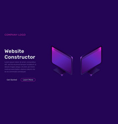 website constructor isometric concept vector image